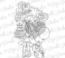 Franci and Bosco Digi Doodles Birthday Digi Stamp
