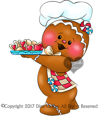 Digi Doodles Jacks Ginger Cookie Baker Digi Stamp