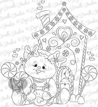 Digi Doodles Ginger Spice Birdhouse Digi Stamp Instant Download Digital Stamp