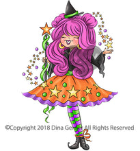 Gwendoline Digi Doodles Good Halloween Witch Digi Stamp
