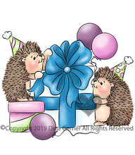 Hedgie Party Digi Doodles Digi Stamp
