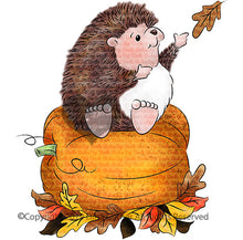 Hedgies Prize Pumpkin Digi Doodles Digi Stamp