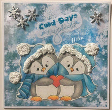 Penguins Petey & Paula Digi Doodles Digi Stamp