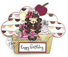 Rosie Cupcake Digi Doodles Instant Download Digital Stamp Birthday Digi Stamp