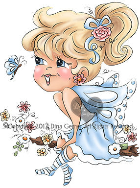 Isabella Curly Girls Instant Download Digital Stamp Digi Stamp