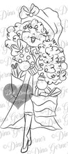 Ivy's Christmas Shopping Spree Digi Stamp Instant Download Digital Stamp
