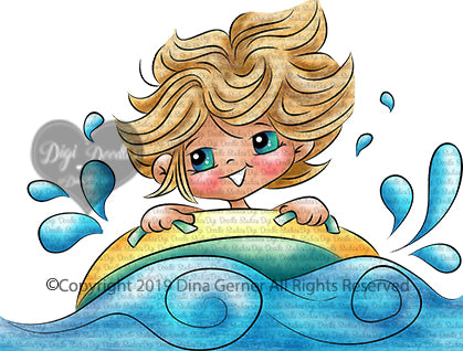 Jimmy's Water Tube Adventure Digi Stamp