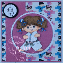 Joanie Martial Arts Girl Digi Stamp