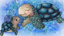 Koopa and Troopa Sea Turtles Digi Stamp