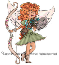 Digi Doodles Little Miss Cupid Digi Stamp