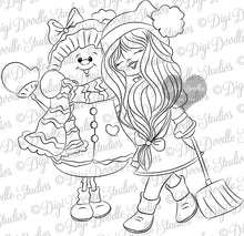 Lucia & Icelyn Digi Doodles Digi Stamp Instant Download Digital Stamp