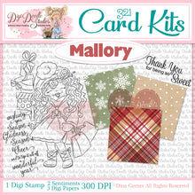 Mallory Digi Doodles 321 Card Kit