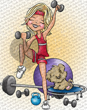 Meghan and Maddie Get Fit Digi Doodles Digi Stamp