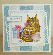 Memphis Main Coon Christmas Kitty Digi Doodles Digi Stamp