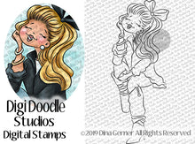 Mindy's New Boots Digi Doodles Digi Stamp