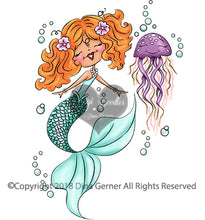 Digi Doodles Mishell Mermaid Digi Stamp