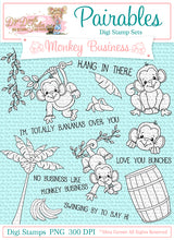 Monkey Business Pairables Digi Doodles Digi Stamp Set