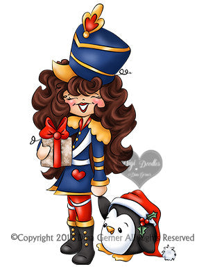 Nutcracker Noelle Digi Stamp Instant Download Digital Stamp