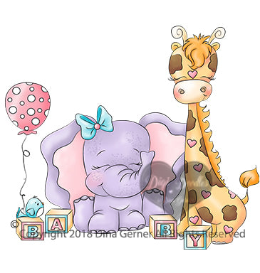 Nursery Friends Digi Doodles Digi Stamps