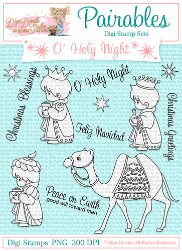 O' Holy Night Pairables Digi Doodles Digi Stamps
