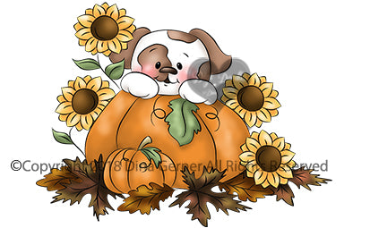 Ollie's Pumpkin Patch Digi Doodles Digi Stamp