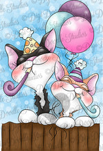 Party Cats Digi Doodles Digi Stamps