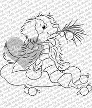 Patches Christmas Border Collie Puppy Digi Doodles Digi Stamp