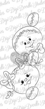 Digi Doodles Peeking Gingerbread Kids Digi Stamp