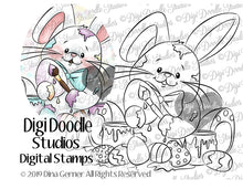 Digi Doodles Peyton's Painted Eggs Digi Stamp