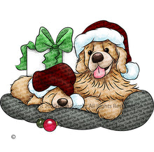 Rusty and Ruffles Christmas Golden Retrievers Digi Doodles Digi Stamp