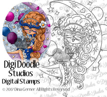 Digi Doodles Selena Masquerade Ball Digi Stamp Instant Download Digital Stamp