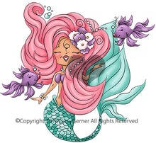 Digi Doodles Sequana Mermaid Digi Stamp