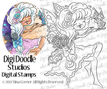 Digi Doodles Shae Meadow Breeze Fairy Angel Digi Stamp