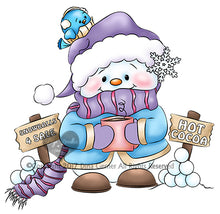 Cocoa's Snowballs For Sale Digi Stamp Instant Download Digital Stamp