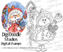 Digital Doodles Snowman Joy Digi Stamp Instant Download Digital Stamp