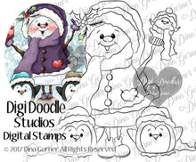Snow Friends Digi Stamp Instant Download Digital Stamp