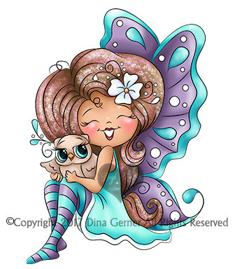 Digi Doodles Sorrel Merry Thistle Fairy Digi Stamp