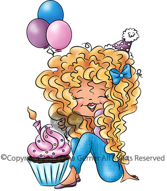 Digi Doodles Suzette's Cupcake Party Digi Stamp