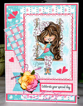 Digi Doodles Swinging Hearts Digi Stamp