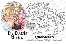 Sylvie Ballerina Digi Doodles Digi Stamps Instant Download Digital Stamp