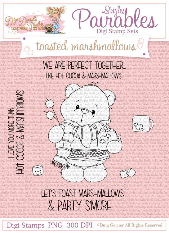 Toasted Marshmallows Digi Doodle Studios Digi Stamp Set