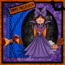 Digi Doodles Vampira Halloween Digi Stamp Instant Download Digital Stamp