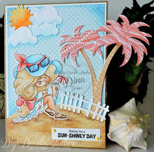 Vivienne Beach Girl Digi Doodles Digi Stamp Instant Download Digital Stamp