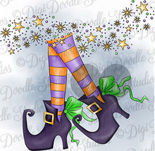 Witchy Shoes Digi Doodles Digi Stamp