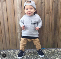 "Boys Winter Clothes Set  Taupe Pants & ""Dirty Harry"" Long Sleeve Top"