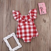 Baby Girl Check Jumpsuit