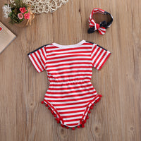 Stars & Stripes Baby Girl Romper Suit