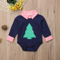 Baby Christmas Long-Sleeved Romper Suit