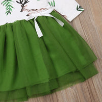 Toddler Christmas Elk Party Tutu Dress