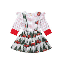 Baby Girl Christmas Set Long Sleeve Romper & Skirt